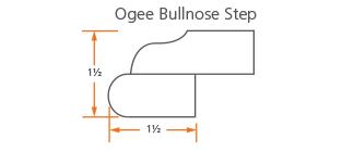 Ogee Bullnose Step